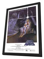 Star Wars - 27 x 40 Movie Poster - Style A - in Deluxe Wood Frame