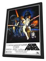 Star Wars - 27 x 40 Movie Poster - Style B - in Deluxe Wood Frame