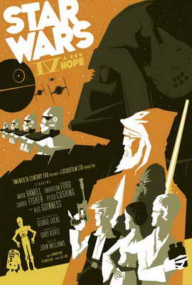 Star Wars - 27 x 40 Movie Poster - Style F