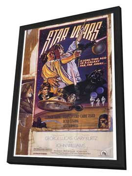 Star Wars - 27 x 40 Movie Poster - Style D - in Deluxe Wood Frame