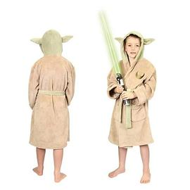 Star Wars - Yoda Fleece Bath Robe Kids Small