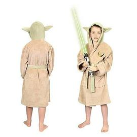 Star Wars - Yoda Fleece Bath Robe Kids Medium