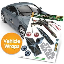 Star Wars - TIE Fighter and X-Wing FanWraps Car Decals