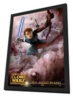 Star Wars: The Clone Wars - 11 x 17 Movie Poster - German Style A - in Deluxe Wood Frame