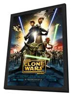 Star Wars: The Clone Wars - 27 x 40 Movie Poster - Style A - in Deluxe Wood Frame