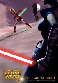 Star Wars: The Clone Wars - 11 x 17 Movie Poster - German Style D