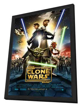 Star Wars: The Clone Wars - 11 x 17 Movie Poster - Style A - in Deluxe Wood Frame