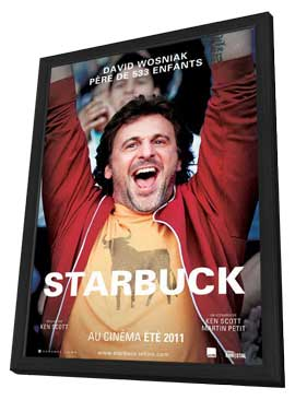Starbuck - 11 x 17 Movie Poster - Canadian Style A - in Deluxe Wood Frame