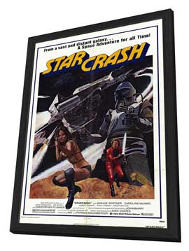 Star Crash - 27 x 40 Movie Poster - Style A - in Deluxe Wood Frame
