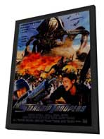 Starship Troopers - 27 x 40 Movie Poster - Foreign - Style A - in Deluxe Wood Frame