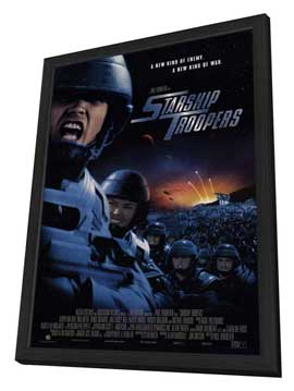 Starship Troopers - 11 x 17 Movie Poster - Style B - in Deluxe Wood Frame