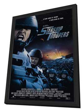 Starship Troopers - 27 x 40 Movie Poster - Style D - in Deluxe Wood Frame