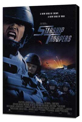 Starship Troopers - 11 x 17 Movie Poster - Style B - Museum Wrapped Canvas