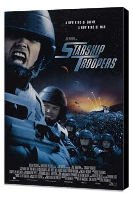 Starship Troopers - 27 x 40 Movie Poster - Style D - Museum Wrapped Canvas