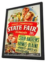 State Fair - 11 x 17 Movie Poster - Style A - in Deluxe Wood Frame