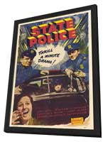 State Police - 27 x 40 Movie Poster - Style A - in Deluxe Wood Frame