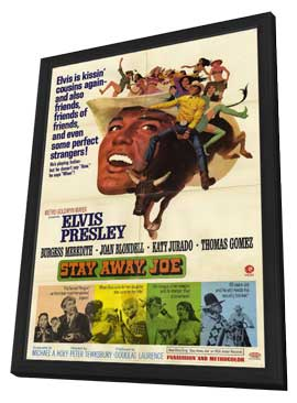 Stay Away, Joe - 11 x 17 Movie Poster - Style A - in Deluxe Wood Frame