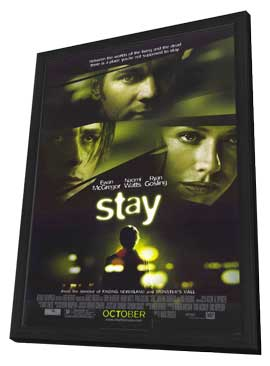 Stay - 27 x 40 Movie Poster - Style A - in Deluxe Wood Frame