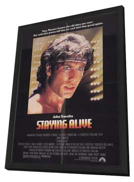 Staying Alive - 11 x 17 Movie Poster - Style A - in Deluxe Wood Frame