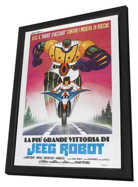 Steel Jeeg (TV) - 11 x 17 Movie Poster - Italian Style A - in Deluxe Wood Frame