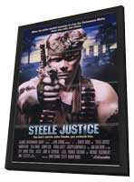 Steele Justice - 11 x 17 Movie Poster - Style A - in Deluxe Wood Frame