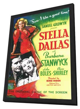 Stella Dallas - 11 x 17 Movie Poster - Style A - in Deluxe Wood Frame