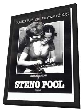 Steno Pool - 11 x 17 Movie Poster - Style A - in Deluxe Wood Frame