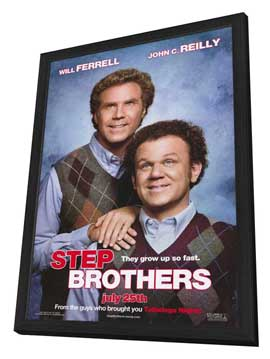 Step Brothers - 11 x 17 Movie Poster - Style A - in Deluxe Wood Frame