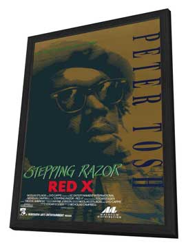 Stepping Razor - Red X - 11 x 17 Movie Poster - Style A - in Deluxe Wood Frame