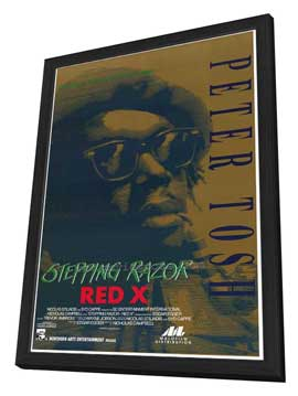 Stepping Razor - Red X - 27 x 40 Movie Poster - Style A - in Deluxe Wood Frame