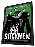 Stickmen - 11 x 17 Movie Poster - Style A - in Deluxe Wood Frame