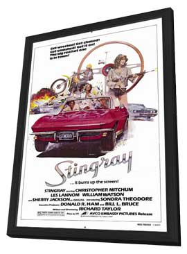 Stingray - 11 x 17 Movie Poster - Style A - in Deluxe Wood Frame