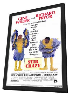 Stir Crazy - 11 x 17 Movie Poster - Style A - in Deluxe Wood Frame