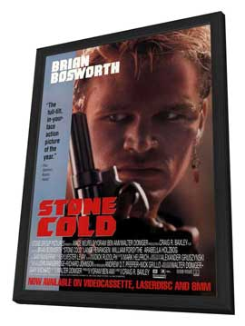 Stone Cold - 27 x 40 Movie Poster - Style A - in Deluxe Wood Frame