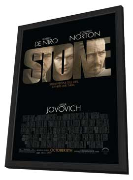Stone - 27 x 40 Movie Poster - Style A - in Deluxe Wood Frame