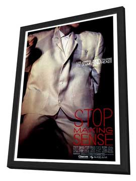 Stop Making Sense - 27 x 40 Movie Poster - Style A - in Deluxe Wood Frame