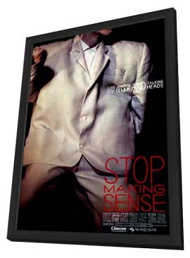 Stop Making Sense - 11 x 17 Movie Poster - Style A - in Deluxe Wood Frame