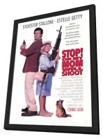 Stop! or My Mom Will Shoot - 27 x 40 Movie Poster - Style D - in Deluxe Wood Frame