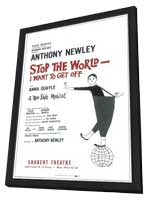 Stop the World I Want to Get Off (Broadway) - 11 x 17 Poster - Style A - in Deluxe Wood Frame