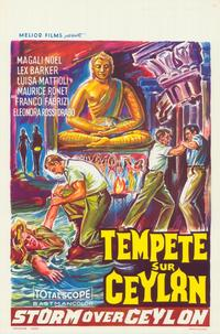 Storm Over Ceylon - 11 x 17 Movie Poster - Belgian Style A