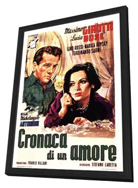 Story of a Love Affair - 11 x 17 Movie Poster - Italian Style B - in Deluxe Wood Frame