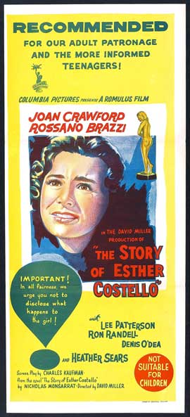 The Story of Esther Costello - 13 x 30 Movie Poster - Australian Style A