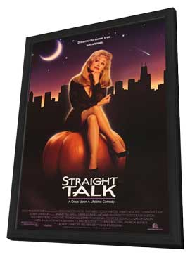 Straight Talk - 11 x 17 Movie Poster - Style B - in Deluxe Wood Frame