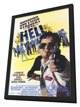 Straight to Hell - 11 x 17 Movie Poster - Style A - in Deluxe Wood Frame
