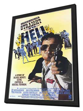 Straight to Hell - 27 x 40 Movie Poster - Style A - in Deluxe Wood Frame