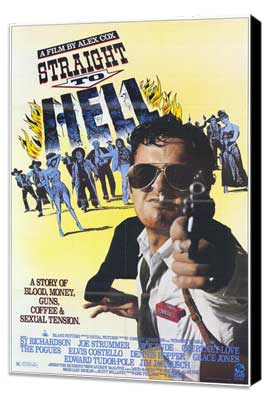 Straight to Hell - 11 x 17 Movie Poster - Style A - Museum Wrapped Canvas
