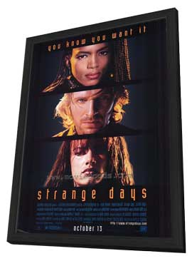 Strange Days - 27 x 40 Movie Poster - Style A - in Deluxe Wood Frame