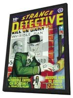 Strange Detective Mysteries (Pulp) - 11 x 17 Pulp Poster - Style C - in Deluxe Wood Frame