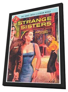 Strange Sisters - 11 x 17 Retro Book Cover Poster - in Deluxe Wood Frame