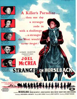 Stranger on Horseback - 11 x 17 Movie Poster - UK Style A